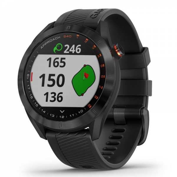 MONTRE GPS GARMIN S40 PREMIUM NOIR - gps et télémètres de golf
