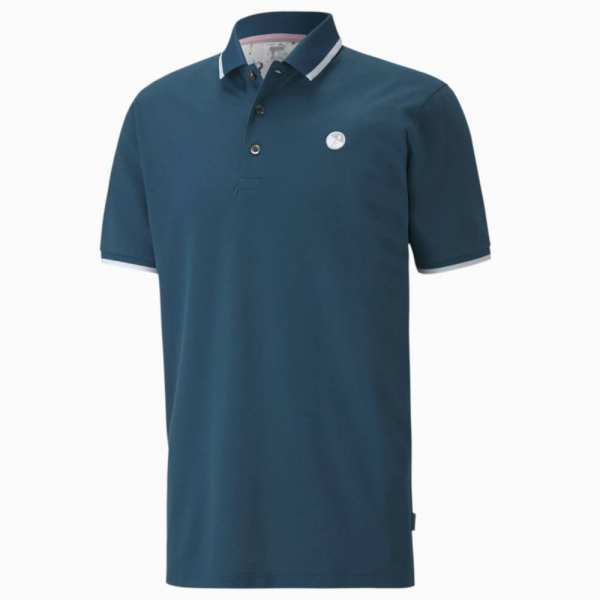 POLO SIGNATURE TIPPED PUMA x ARNOLD PALMER LEGION BLUE - vêtements de golf