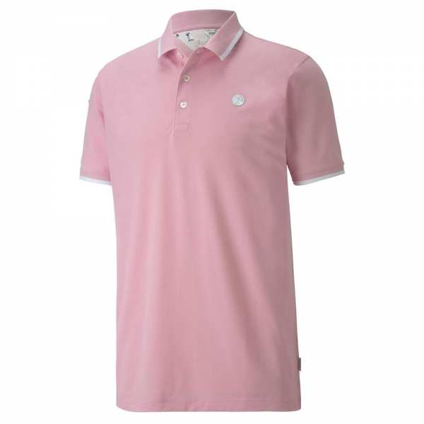 POLO SIGNATURE TIPPED PUMA x ARNOLD PALMER LIGHT PINK - vêtements de golf