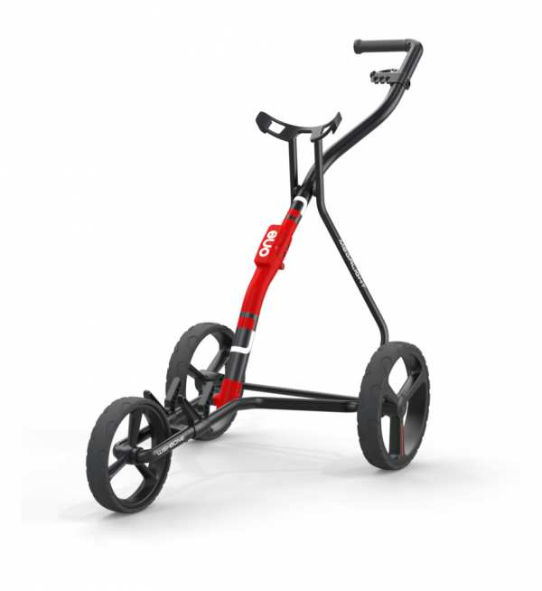 CHARIOT 3 ROUES WISHBONE ONE CHARCOAL/RED - chariots de golf