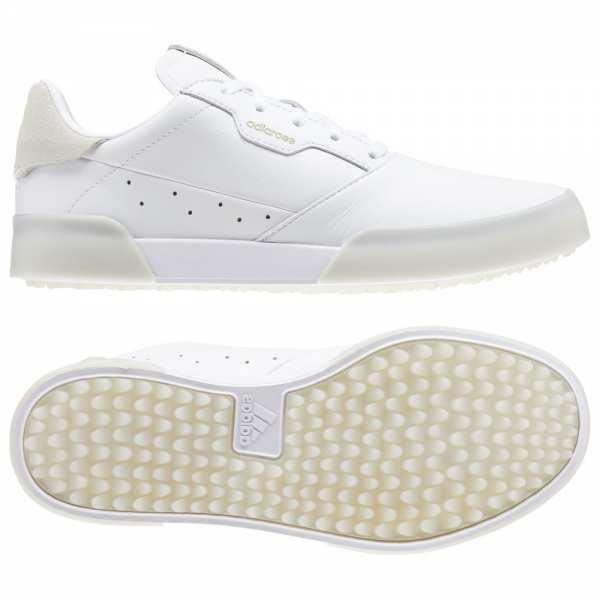 CHAUSSURES ADIDAS ADICROSS RETRO WHITE GOLD / CHRISTAL WHITE 2020 - chaussures de golf