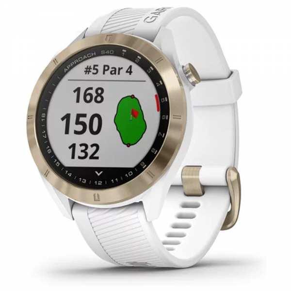 MONTRE GPS GARMIN S40 PREMIUM BLANCHE - gps et télémètres de golf
