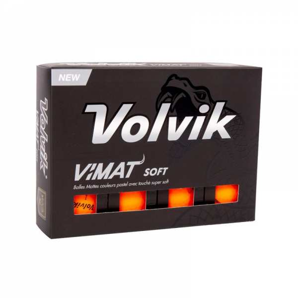 BALLES VOLVIK VIMAT SOFT ORANGE - balles de golf