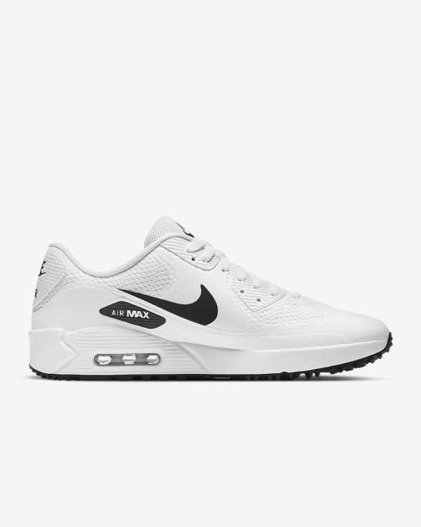 CHAUSSURES NIKE AIR MAX 90G BLANC NOIR - chaussures de golf